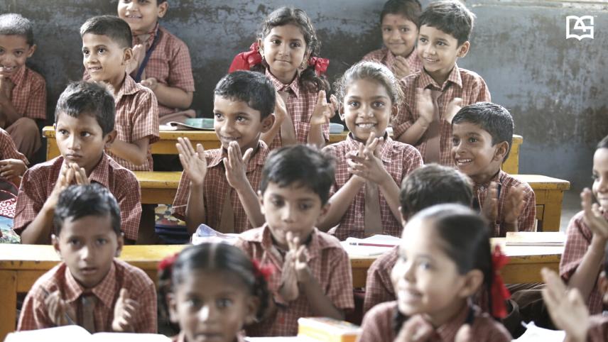 kids embracing new age classroom